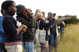 Some of the keen birders who participated in the Sebayeng wetlands outing on the 9th of April