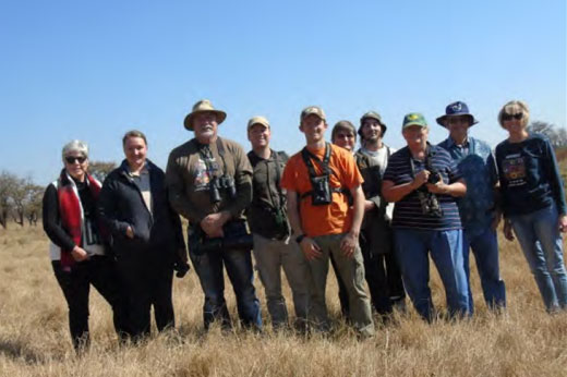 Members of Birdlife Polokwane at Mockford Farm (9 June 2018)